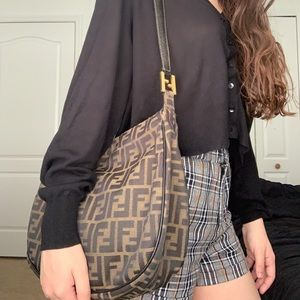 Fendi Bags - Fendi Brown Zucca Tobacco Print Shoulder Bag